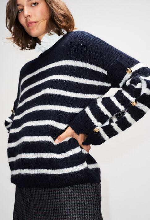 MAYAH19 : Strick & Sweatshirts farbe MARINIERE