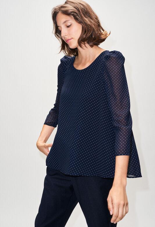 BANCPOISH19 : Tops et Chemises couleur MARINE