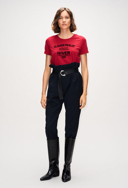 TRISTANH19 : T-Shirts farbe CERISE