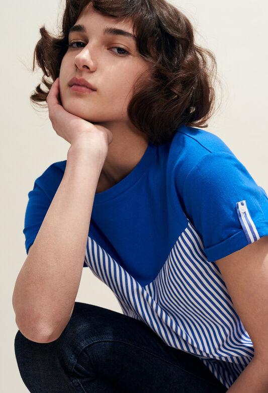 TATUM : T-Shirts couleur INDIGO