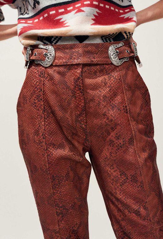 CRANBERRY : Pantalons et Jeans couleur PYTHON